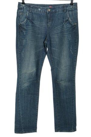 AJC Jeansy z wysokim stanem niebieski W stylu casual