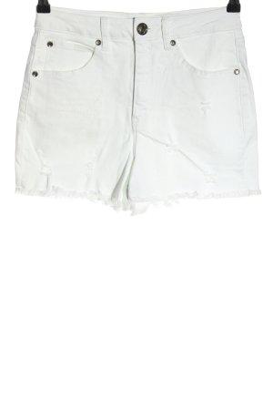 AJC Short taille haute blanc style décontracté