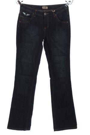 AJC Spodnie biodrówki czarny W stylu casual