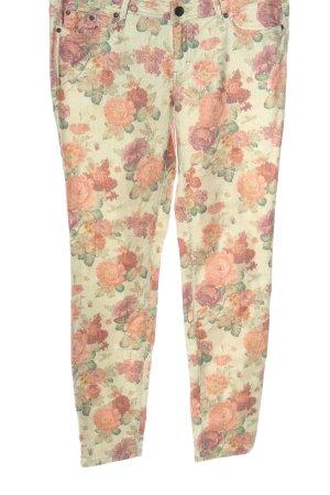 AJC Pantalone a vita bassa blu-bianco motivo a righe stile casual