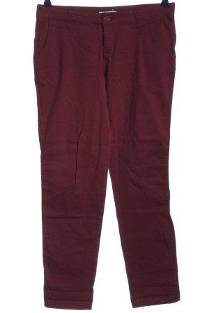 AJC Pantalon taille basse rouge style décontracté