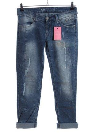AJC Jeans taille basse bleu style décontracté