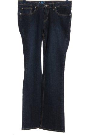 AJC Jeansschlaghose blau Casual-Look