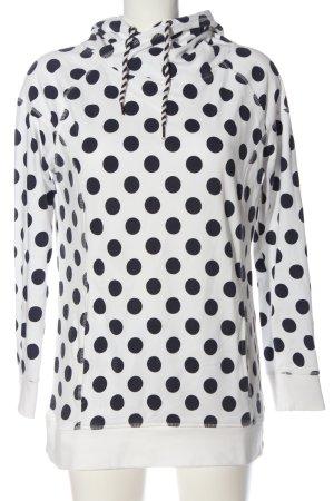 AJC Sweat à capuche blanc-noir imprimé allover style décontracté