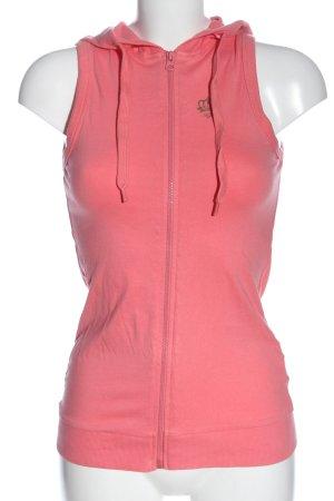 AJC Smanicato con cappuccio rosa stile casual