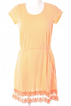 AJC Shortsleeve Dress neon orange Lace trimming