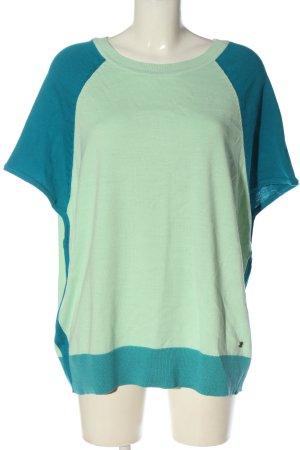 AJC Sweter z krótkim rękawem turkusowy-niebieski W stylu casual