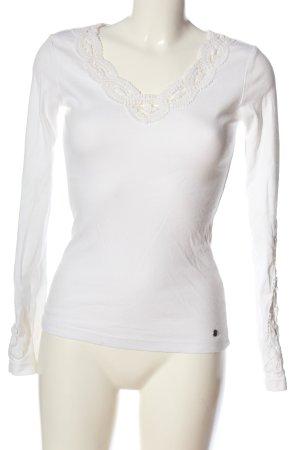 AJC Blusa de manga larga blanco look casual