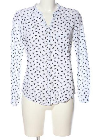 AJC Camisa de manga larga blanco-negro look casual