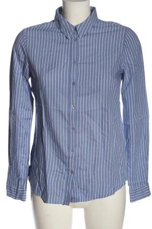 AJC Koszula z długim rękawem niebieski-biały Wzór w paski W stylu biznesowym