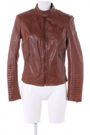 AJC Leather Jacket brown casual look