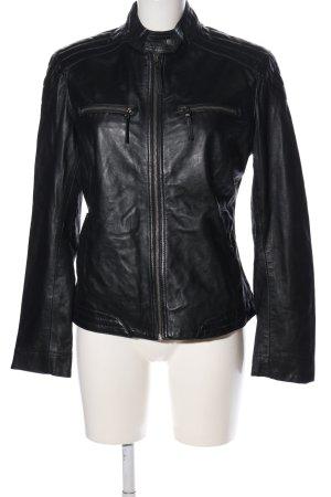 AJC Skórzana kurtka czarny W stylu casual