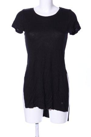 AJC Longshirt schwarz Casual-Look