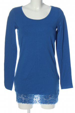 AJC Lang shirt blauw casual uitstraling