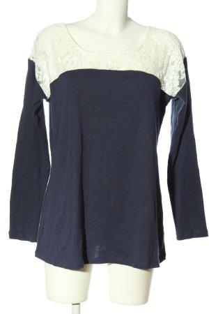 AJC Koszulka z długim rękawem niebieski-w kolorze białej wełny