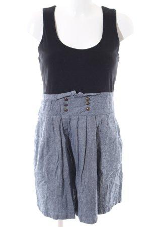 AJC Minikleid blau-schwarz meliert Casual-Look