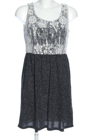 AJC Minikleid schwarz-weiß Allover-Druck Casual-Look