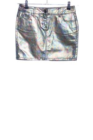 AJC Mini-jupe argenté gradient de couleur style décontracté