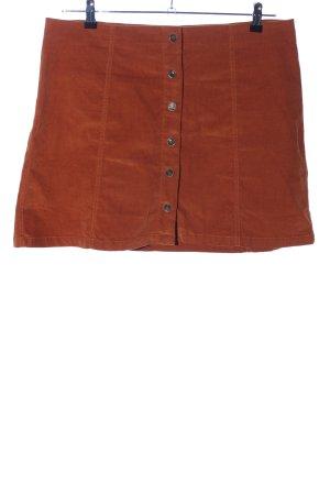 AJC Mini-jupe brun style décontracté