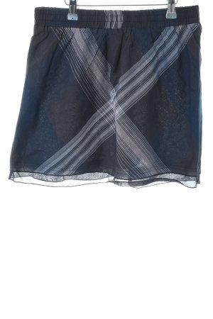 AJC Miniskirt blue-light grey allover print casual look