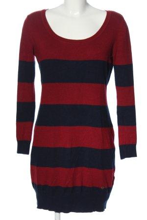 AJC Pulloverkleid rot-blau Streifenmuster Casual-Look