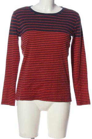 AJC T-shirt rayé rouge-bleu motif rayé style décontracté