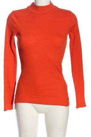 AJC Koszulka z golfem czerwony Wzór w paski W stylu casual