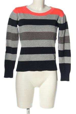 AJC Kraagloze sweater gestippeld casual uitstraling