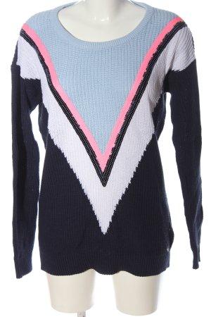 AJC Kraagloze sweater gestreept patroon casual uitstraling