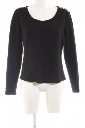 AJC Crewneck Sweater black casual look