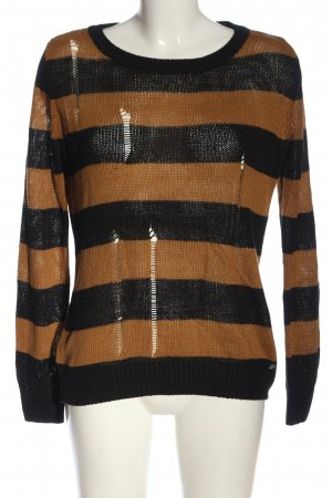 AJC Crewneck Sweater brown-black striped pattern casual look