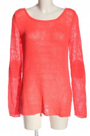 AJC Crewneck Sweater red weave pattern casual look