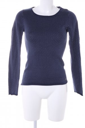 AJC Crewneck Sweater blue-white allover print casual look
