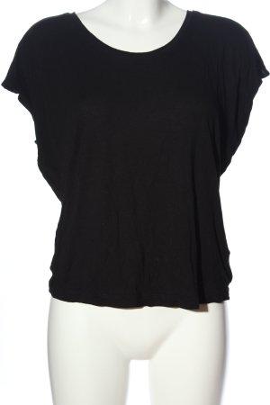 AJC Schlupf-Bluse schwarz Casual-Look