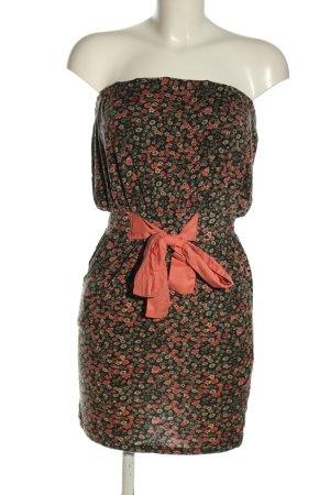 AJC Robe épaules nues motif de fleur style décontracté