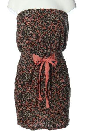 AJC schulterfreies Kleid abstraktes Muster Casual-Look