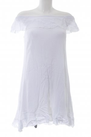 AJC schulterfreies Kleid weiß Casual-Look