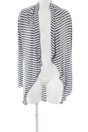 AJC Veste chemise gris clair-blanc motif rayé style d'affaires