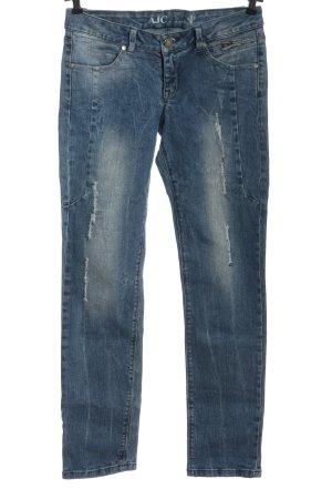 AJC Jeans a gamba dritta blu stile casual