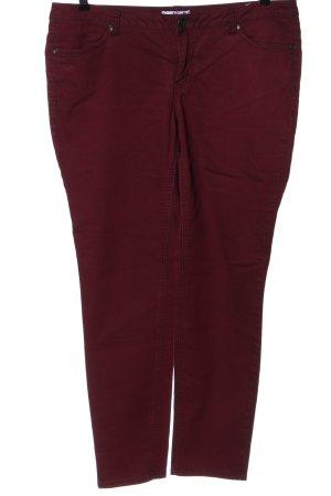 AJC Pantalone elasticizzato rosso stile casual