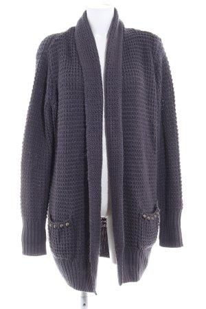 AJC Knitted Cardigan dark grey casual look