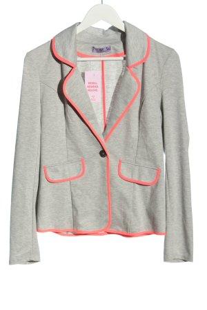 AJC Knitted Blazer light grey flecked casual look