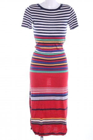 AJC Robe en maille tricotées motif rayé style décontracté