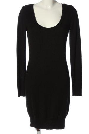 AJC Sukienka z dzianiny czarny W stylu casual