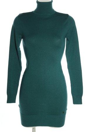 AJC Robe en maille tricotées turquoise style décontracté