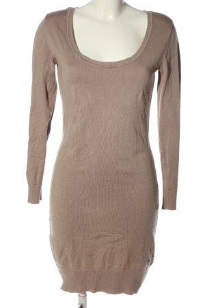 AJC Sukienka z dzianiny brązowy W stylu casual