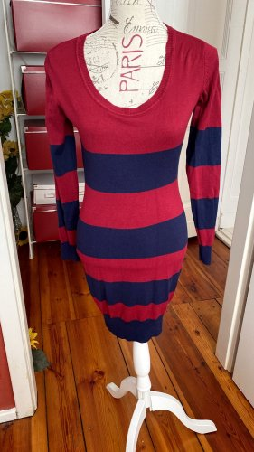 AJC Knitted Dress red-dark blue