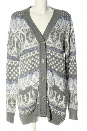 AJC Knitted Coat allover print casual look
