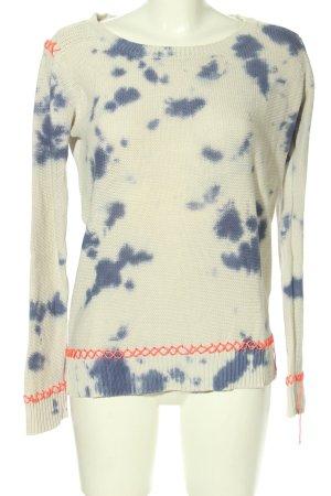 AJC Pull tricoté imprimé avec thème style décontracté