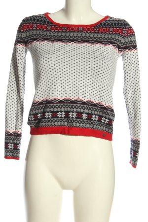 AJC Pull tricoté imprimé allover style décontracté